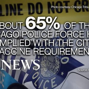 Chicago's mayor and police officers face off over vaccine mandates