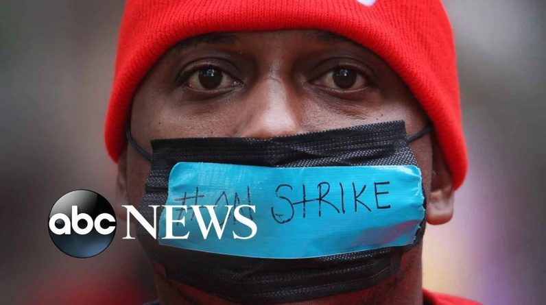 McDonald's workers strike, Sudan coup and Zuma in court: World in Photos, Oct. 29