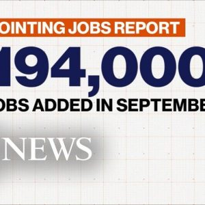 September jobs report falls short of analysts' expectations